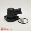 Billet Swivel Thermostat Housings Water NecK Ford Big Block  1.25'' Black