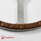 14'' Flat Four Spoke Laminated Wood Steering Wheel w/plastic horn button