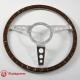 13'' Laminated Wood Steering Wheel Polished
