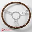 14'' Laminated Wood Steering Wheel