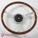 14'' Laminated Wood Steering Wheel with horn botton