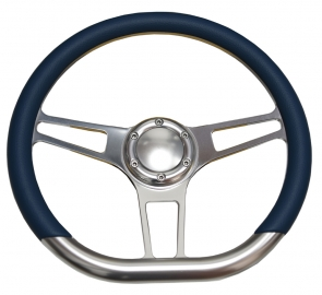 """14"""" Sector D Type Billet steering wheel Half Wrap with horn button"""
