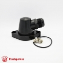 Billet Swivel Thermostat Housings Water Neck Chevy 95 Degree 16AN Black