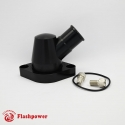 Billet Swivel Thermostat Housings Water NecK Chevy 45° 1.25'' Black