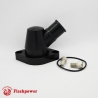 Billet Swivel Thermostat Housings Water NecK Chevy 45 Degree 1.25'' Black