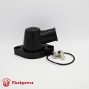 Billet Swivel Thermostat Housings Water NecK Chevy 95° 1.25'' Black