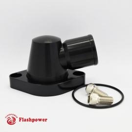 Billet Swivel Thermostat Housing Water Neck Chevy 95° 1.5'' Black