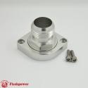 BilletSwivelThermostatHousingsWaterNecK180 20AN LS Engine Clear