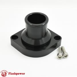 "BilletSwivelThermostatHousingsWaterNecK180 1.5"" LS Engine Black"