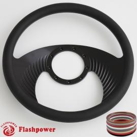 "Hawk 14"" Black Billet Steering Wheel with Half Wrap Rim"