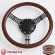 "5-String Banjo 15.5"" Black Billet Steering Wheel with Half Wrap and Horn Button"