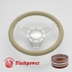 """5-String Banjo 14"""" Satin Billet Steering Wheel Kit Full Wrap with Horn Button and Adapter"""