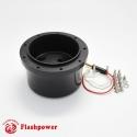 6001B  Flashpower steering wheel adapter 9 bolt Billet Black for GM Chevy