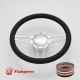 """Tridon 14"""" Satin Billet Steering Wheel Kit Full Wrap with Horn Button and Adapter"""