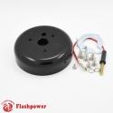 6031B  Flashpower 3 Hole Steering Wheel Hub Adapter Boss Kit For GM Chevrolet Pontiac Camaro 60-69 Black