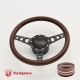 "Cruisin 14"" Black Billet Steering Wheel Kit Full Wrap with Horn Button and Adapter"