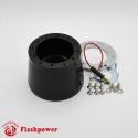 6061B  Flashpower 6 hole Steering Wheel Hub Adapter Boss Kit For GM Chevrolet Buick Cadillac Truck 60-69 Black