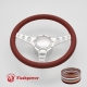 """Cruisin 14"""" Satin Billet Steering Wheel Kit Full Wrap with Horn Button and Adapter"""