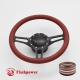 "Troika 14"" Black Billet Steering Wheel Kit Full Wrap with Horn Button and Adapter"