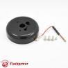GM Chevy steering wheel adapter 3 bolt Billet Black