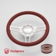 """Troika 14"""" Satin Billet Steering Wheel Kit Full Wrap with Horn Button and Adapter"""