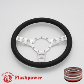 "Cruisin 14"" Satin Billet Steering Wheel with Full Wrap"