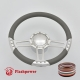 """Trinity 14"""" Polished Billet Steering Wheel Kit Full Wrap with Horn Button and Adapter"""