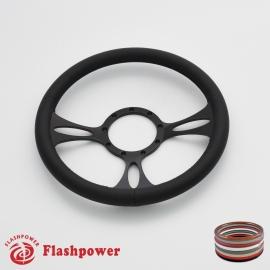 "Vectra 14"" Black Billet Steering Wheel with Full Wrap"