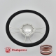 """Viral 14"""" Polished Billet Steering Wheel Kit Half Wrap with Horn Button and Adapter"""
