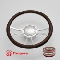 """Viral 14"""" Satin Billet Steering Wheel Kit Half Wrap with Horn Button and Adapter"""