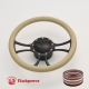 """Viral 14"""" Black Billet Steering Wheel Kit Full Wrap with Horn Button and Adapter"""
