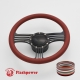 """Zephyr 14"""" Black Billet Steering Wheel Kit Full Wrap with Horn Button and Adapter"""