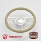 """Zephyr 14"""" Satin Billet Steering Wheel Kit Full Wrap with Horn Button and Adapter"""