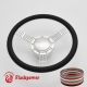 """5-String Banjo 15.5"""" Satin Billet Steering Wheel Kit Half Wrap with Horn Button and Adapter"""