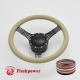 "5-String Banjo 15.5"" Black Billet Steering Wheel Kit Full Wrap with Horn Button and Adapter"