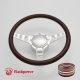 """Cruisin 15.5"""" Satin Billet Steering Wheel Kit Half Wrap with Horn Button and Adapter"""