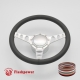 """Cruisin 15.5"""" Satin Billet Steering Wheel Kit Full Wrap with Horn Button and Adapter"""