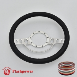 """Good Times 14"""" Polished Billet Steering Wheel with Full Wrap"""