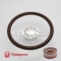 """Good Times 15.5"""" Satin Billet Steering Wheel Kit Half Wrap with Horn Button and Adapter"""