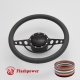 """Good Times 15.5"""" Black Billet Steering Wheel Kit Full Wrap with Horn Button and Adapter"""
