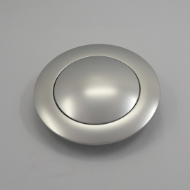 Horn Button for 9 bolt Steering Wheels,Big Plain Satin