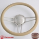 "14"" Billet Steering Wheel half wrap rim  with horn button"