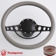"""Good Times 15.5"""" Black Billet Steering Wheel Kit Half Wrap with Horn Button and Adapter"""