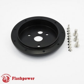 """1"""" ConversionSpacerfor 9 hole wheel to 3 hole hub Black"""