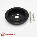 "1"" Conversion Spacer for 9 hole wheel to 3 hole hub Black"