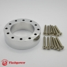 "1.0"" Steering Wheel Hub Adapter Extension Spacer Polished"