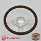"""Viral 14"""" Polished Billet Steering Wheel with Half Wrap and Horn Button"""