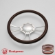 """Viral 14"""" Satin Billet Steering Wheel with Half Wrap and Horn Button"""