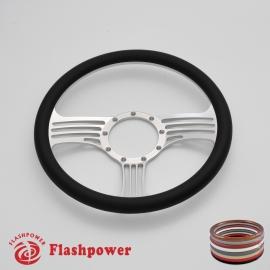 "Zephyr 14"" Satin Billet Steering Wheel with Half Wrap Rim"