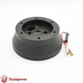 Steering Wheel Short Hub Adapter Billet Black for GM Chevy